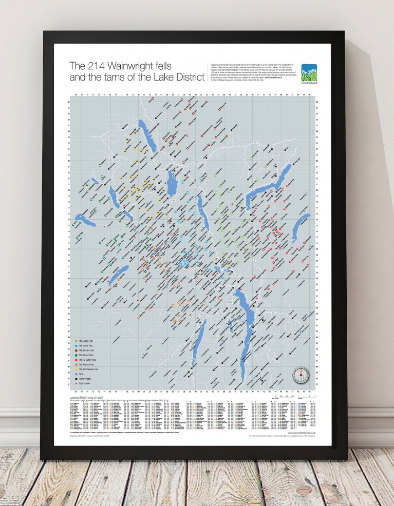 Wainwright Fells Map